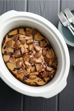 Looking for an over-the-top, crazy-delicious cake to feed a crowd? No wonder this decadent slow-cooker creation is one of our most-shared cakes on Pinterest and Facebook: Not only is it packed with creamy peanut butter and chocolate, it's incredibly easy to make.
