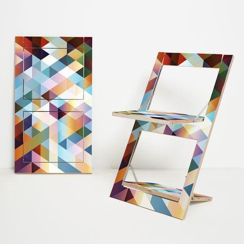 Great Designer Stuhl aus Birke lackiertes Holz f r berufliche Nutzung Fl pps Klappstuhl printed AMBIVALENZ