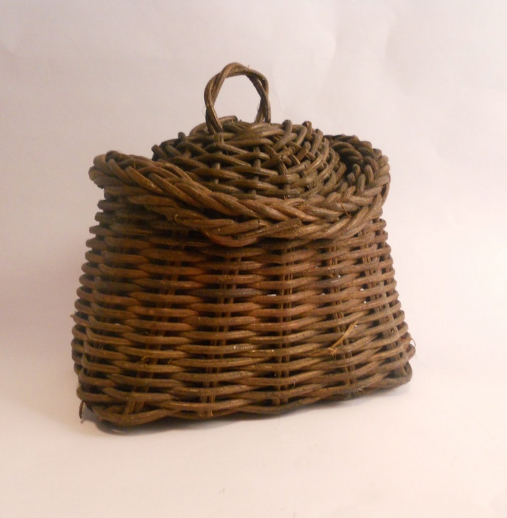 Traditional Small Wicker Basket With Liner&handle : Images about baskets woven on