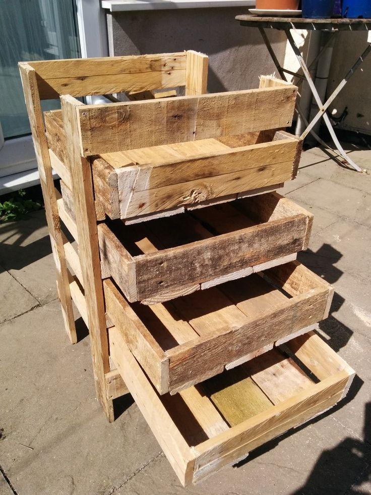 Diy wooden pallet storage box plans pallet storage