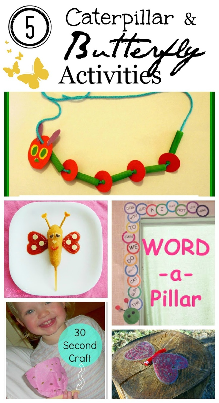 5 Butterfly and Caterpillar Activities- perfect for spring!