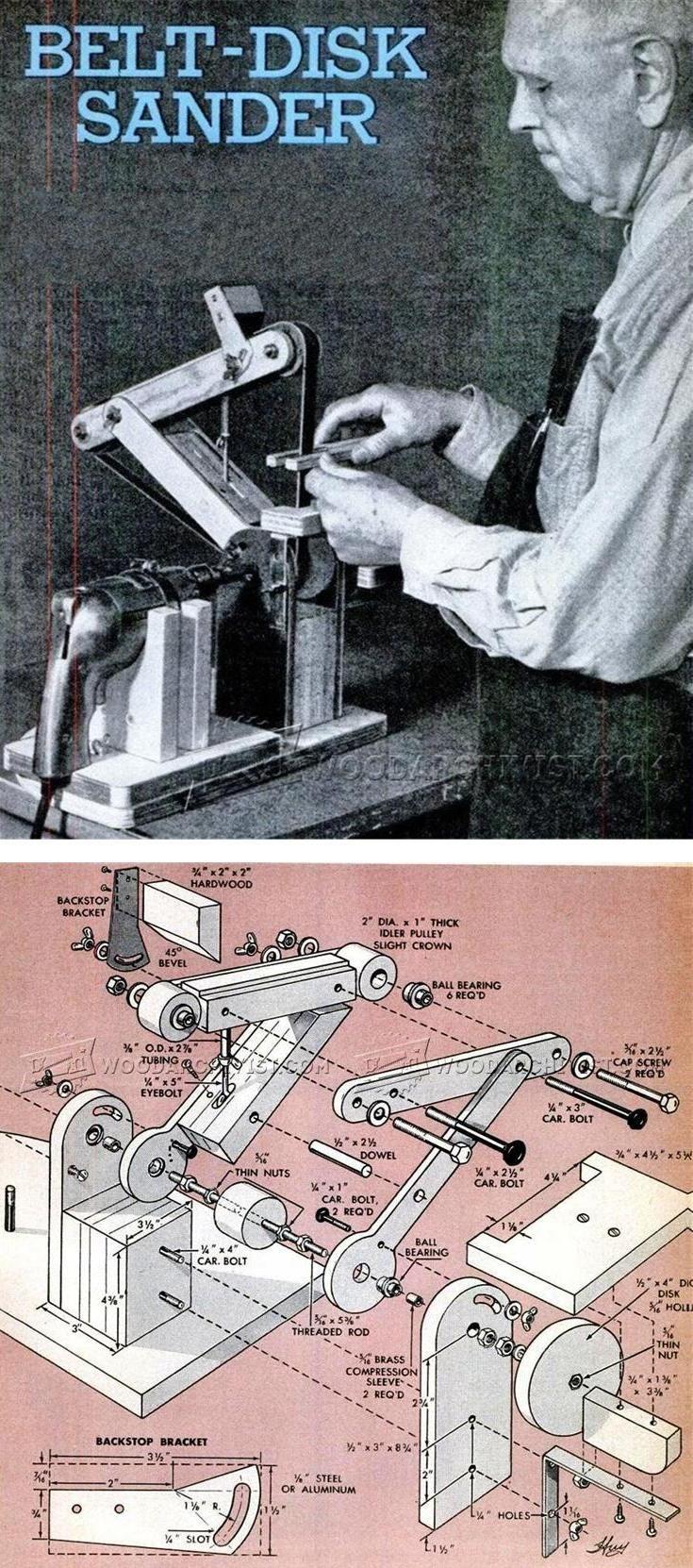 DIY Belt Sander - Sanding Tips, Jigs and Techniques | WoodArchivist.com