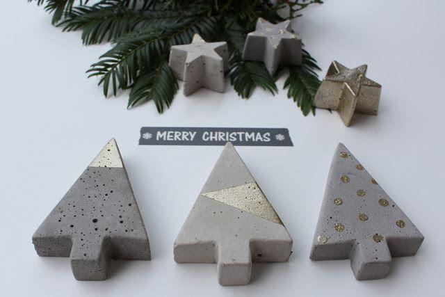 Beton DIY Weihnachtsdeko  #DIY #Beton #concrete