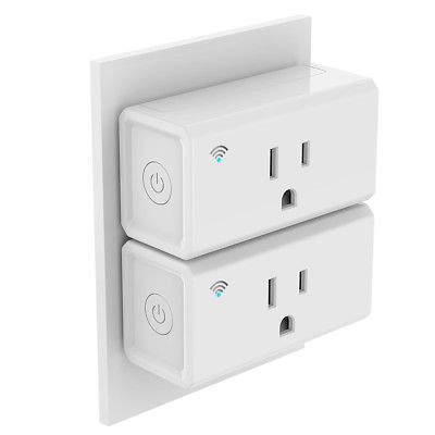 2-Pack Echo Smart Wi-Fi Minii Plug Outlet Switch Works With Alexa Amazon, Shipping FREE, Item location Monroe Township,NJ,USA (  Type - Smart Home, Connected Home Protocol - Voice Control, Wi-Fi, Connected Home Compatibility - Android| iOS APP, Amazon Alexa, Package Include - 2×Mini Smart Socket 1×User Manual, UPC - 190657127196     )