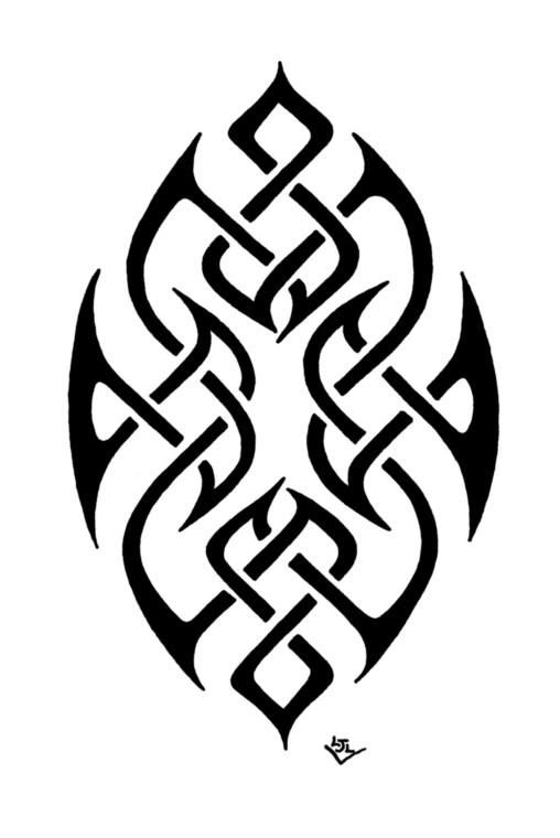 Not a dragon, but really cool.  Oval Tribal Celtic Knot - Dreaming Dragon Designs - Printfection.com