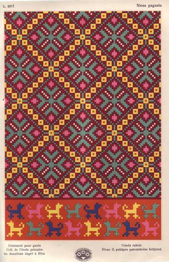 Latvian ornaments & charts