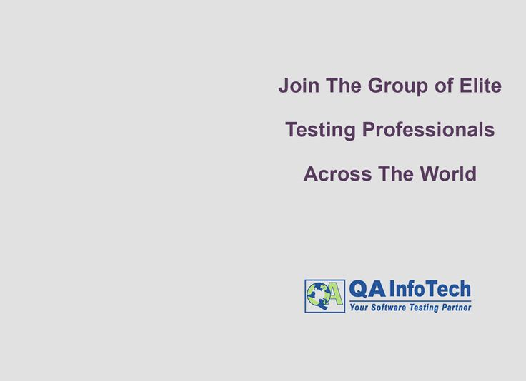Join the group of elite QA & #Testing professionals across the world. Join our group QA Thought Leaders now!! Start a discussion, share your views & experiences. More@ https://www.linkedin.com/groups/3936004/profile