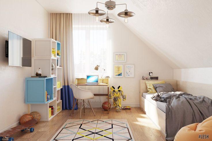 Дизайн дома в стиле прованс   Студия LESH (Дизайн детской мальчика, мансарда, игрушки)