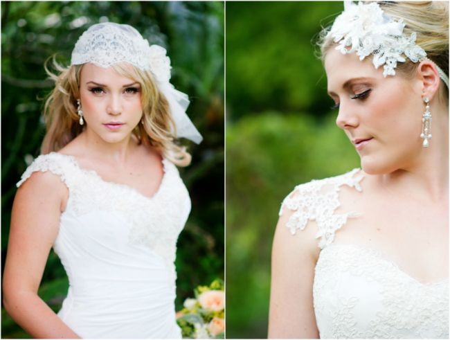 Elizabeth de Varga 'Neshama' and 'Miranda' gowns and Headpieces  www.devarga.com.au