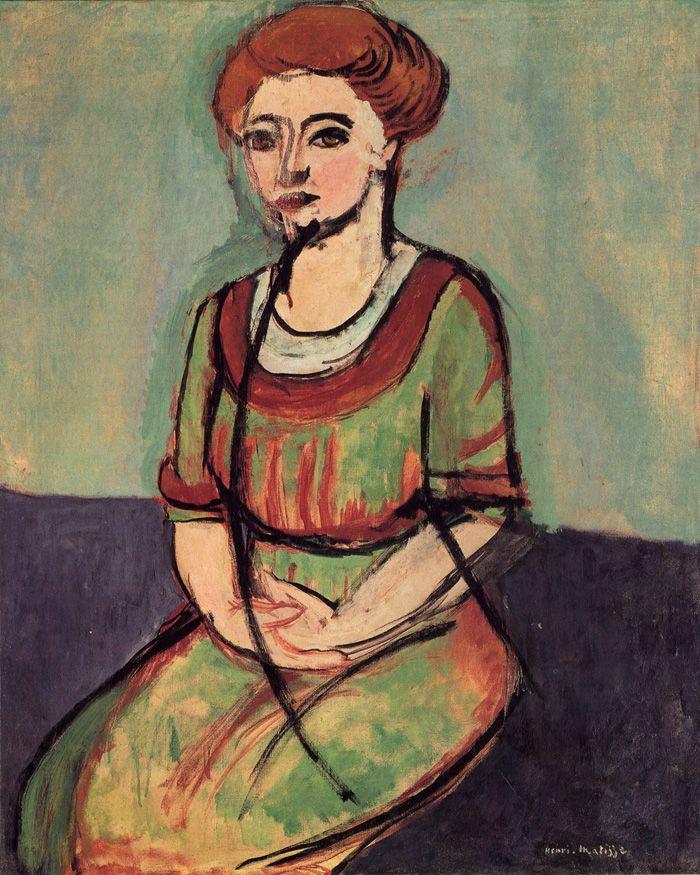 Henri Matisse. Portrait of Olga Merson. 100 x 80.6 cm.Museum of Fine ArtsHouston, Texas1911: Art Henry, Oil On Canvas, Art Inspiration, Fine Art, Olga Merson, Henry Matisse, Art Matisse, Henry Matty, 1910 Henry