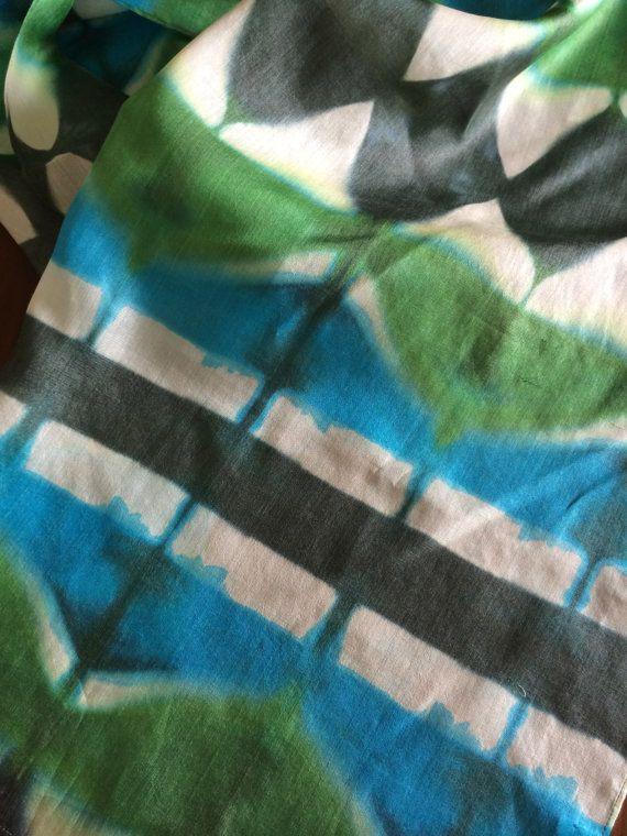 Itajime silk stole by kopoushop on Etsy