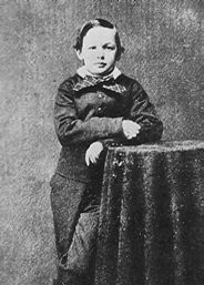 Photograph of Willie Lincoln taken in Springfield in 1860