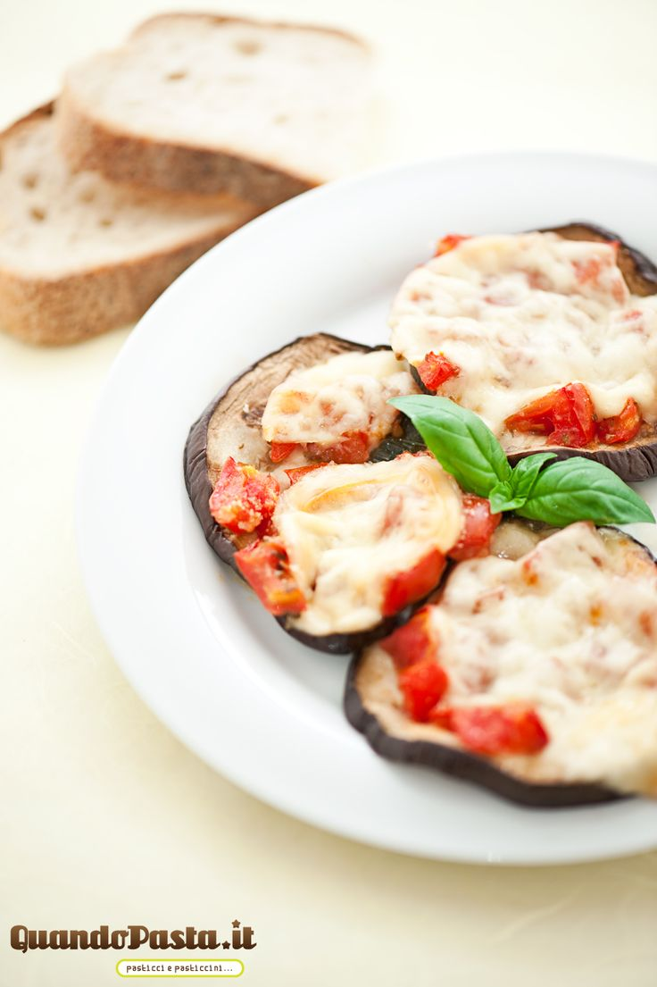 Aubergines with tomatoes and Provola Cheese