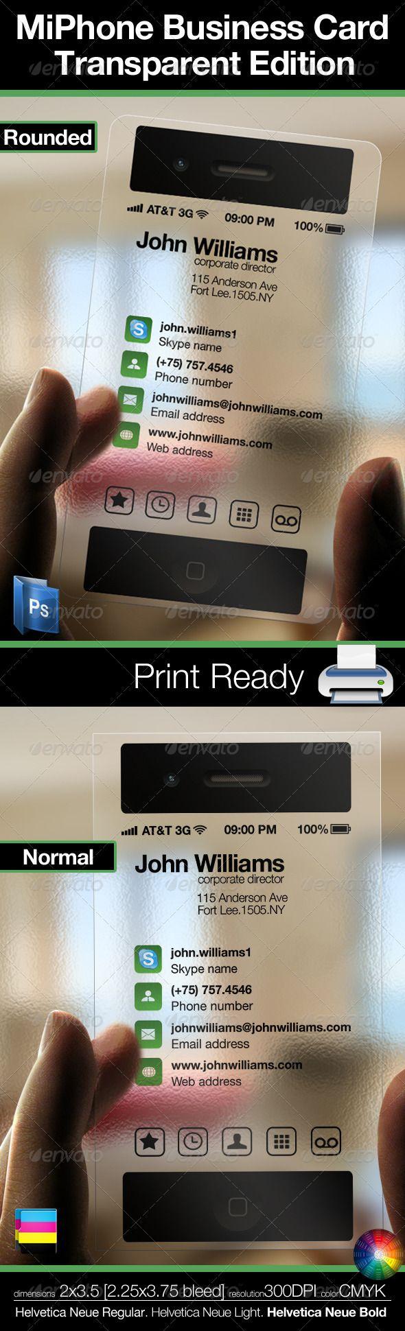 MiPhone Business Card Transparent Edition - Creative Business Cards
