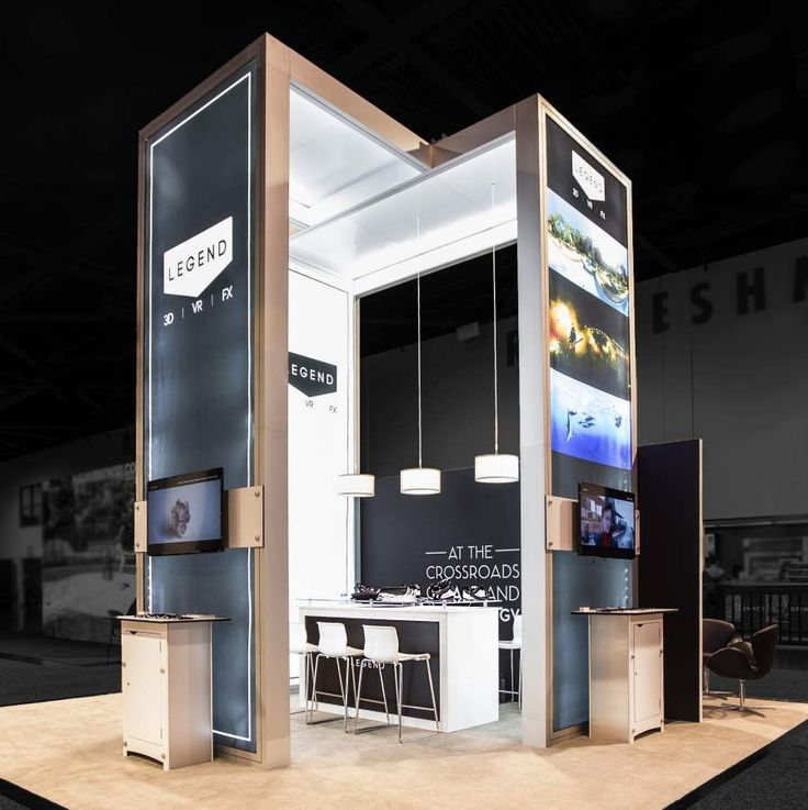 An ingenious & inspiring #booth design by Exponents for Legend 3D at Siggraph, Anaheim #eventprofs #tradeshows