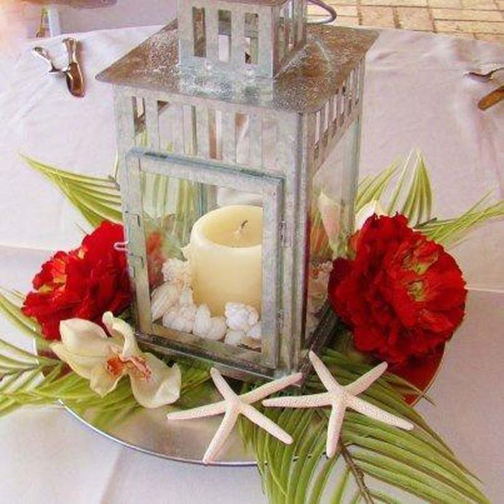 diy beach theme wedding centerpieces%0A Beach reception centerpiece ideas and d  cor options offered by Sand Petal  Weddings