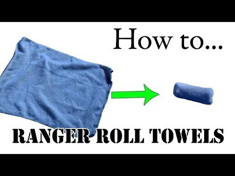 Travel Tips: Unique Way to Fold Towels, Army Basic Training Style - The Best Ranger Roll Tutorial - YouTube