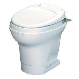Thetford 31667 Aqua Magic Permanent High Profile Hand Flush Toilet - White