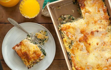 TORTILLA BREAKFAST STRATA WITH SAUSAGE AND GREEN CHILES