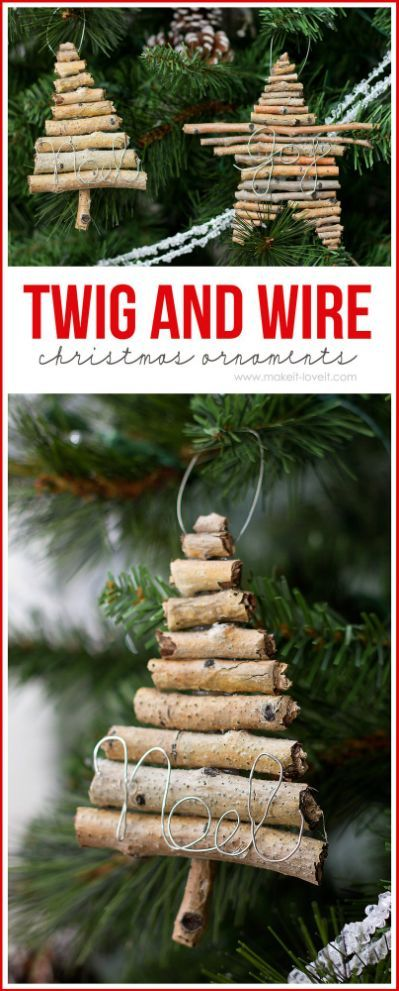 DIY Rustic Christmas Ornaments The Holidays Pinterest Rustic - outdoor angel christmas decorations