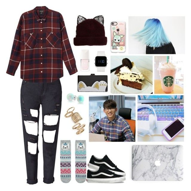 """""""Bored of Reality"""" by anna-fozo ❤ liked on Polyvore featuring Accessorize, Eclectica, Vans, Casetify, Monki, Topshop, Bling Jewelry, Edie Parker, 1:Face and Silver Spoon Attire"""