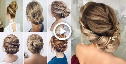 Braided updo hairstyles for medium/long hair tutorial  Wedding, prom New Year Ev…