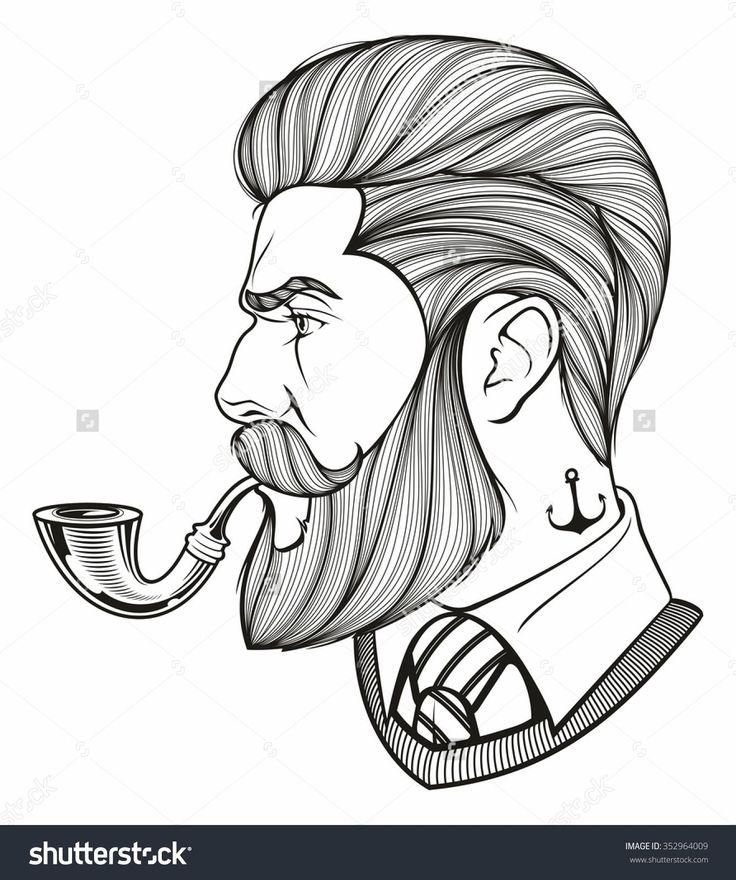 ink drawings beards Google Search Beard drawing