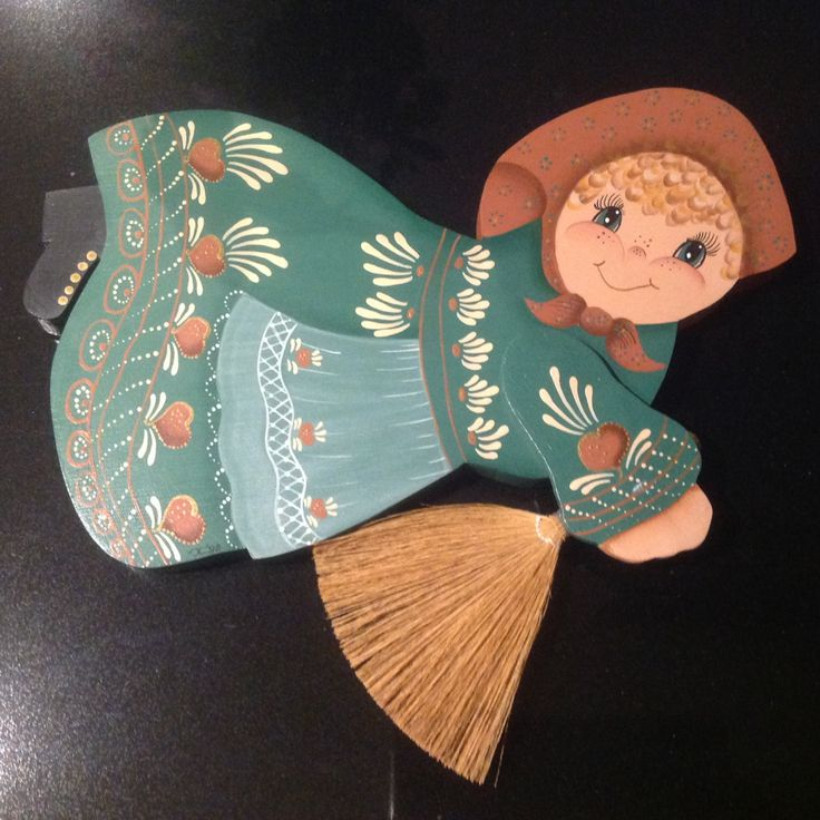 Wooden folk art - 'Kitchen Witch' by Sweetsundaycharm on Etsy