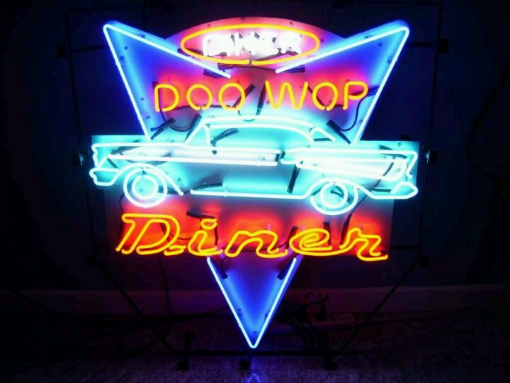 Neon sign with a 50's Bel Aire