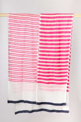 split stripe scarf from lemlem