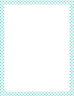 Turquoise Polka Dot Border