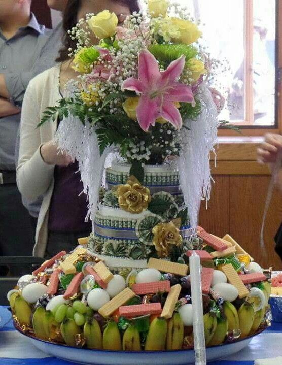 Hmong khi tes centerpiece I made for my dad's party