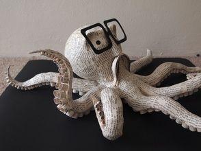 Octopus - paper mache sculpture - Janaki Lele