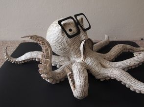 Octopus - paper mache sculpture - Janaki Lele