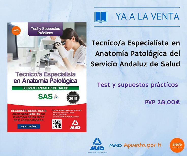 Nuevo libro Técnico Especialista Anatomía Patológica.Test y Supuestos Prácticos