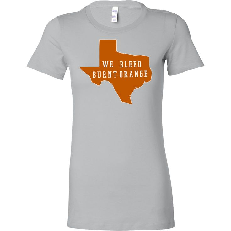 Texas Burnt Orange Background We Bleed Burnt Orange Women's T-shirt Slim Fit