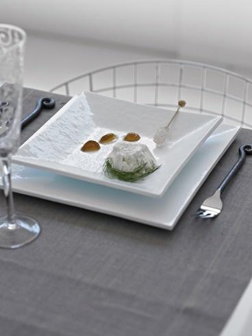 Andretto © Design - Table plates set total white - Murano glass