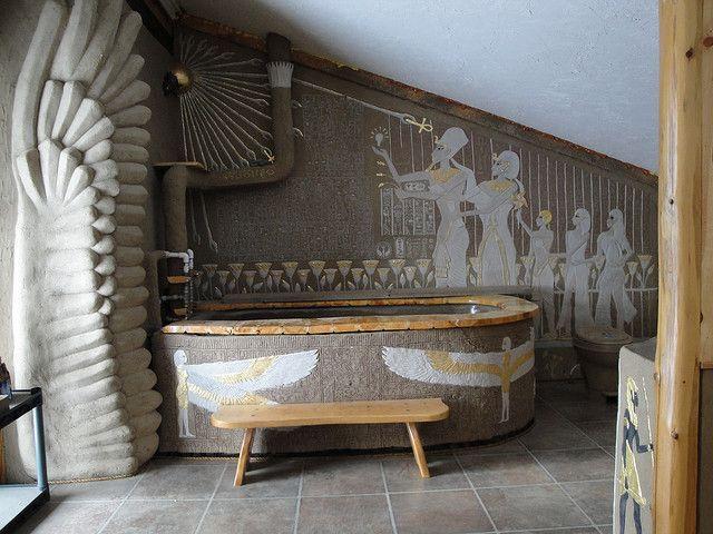 Ancient Egyptian-Themed Bathroom