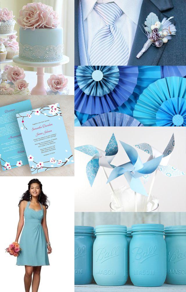 <font><font>Пастель питания! </font><font>Baby Blue Свадебное Вдохновение</font></font>