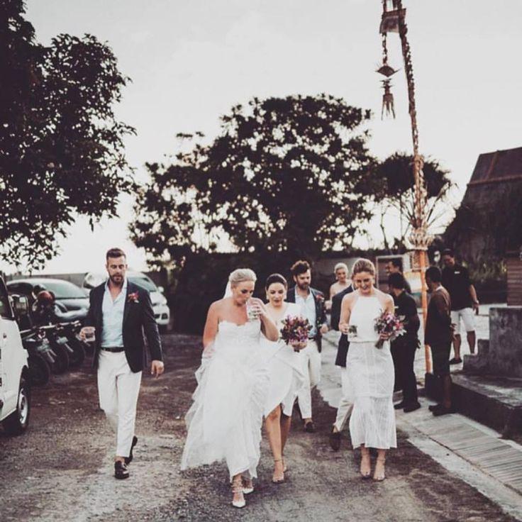 Squad.    Bride / Groom / Bridal Party / Wedding Dress / Bridesmaids / Wedding Attire / Bouquets / Bali Wedding / Wedding Inspo