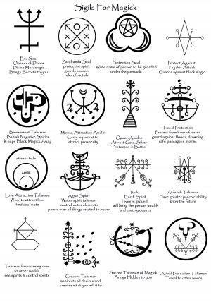 # cabochons Sigils for magick - again, some of them are purely so that they can be spotted when others use them, especially that 'Creator' Talisman. You'd have to be suicidal or insane to use that...