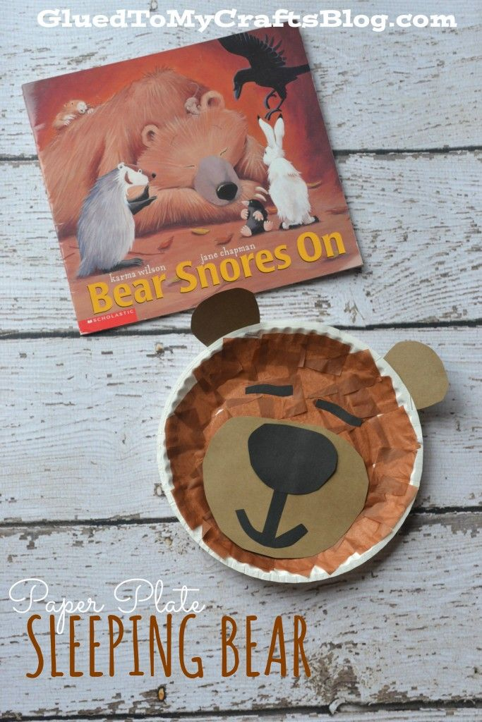 Paper Plate Sleeping Bear {Kid Craft}