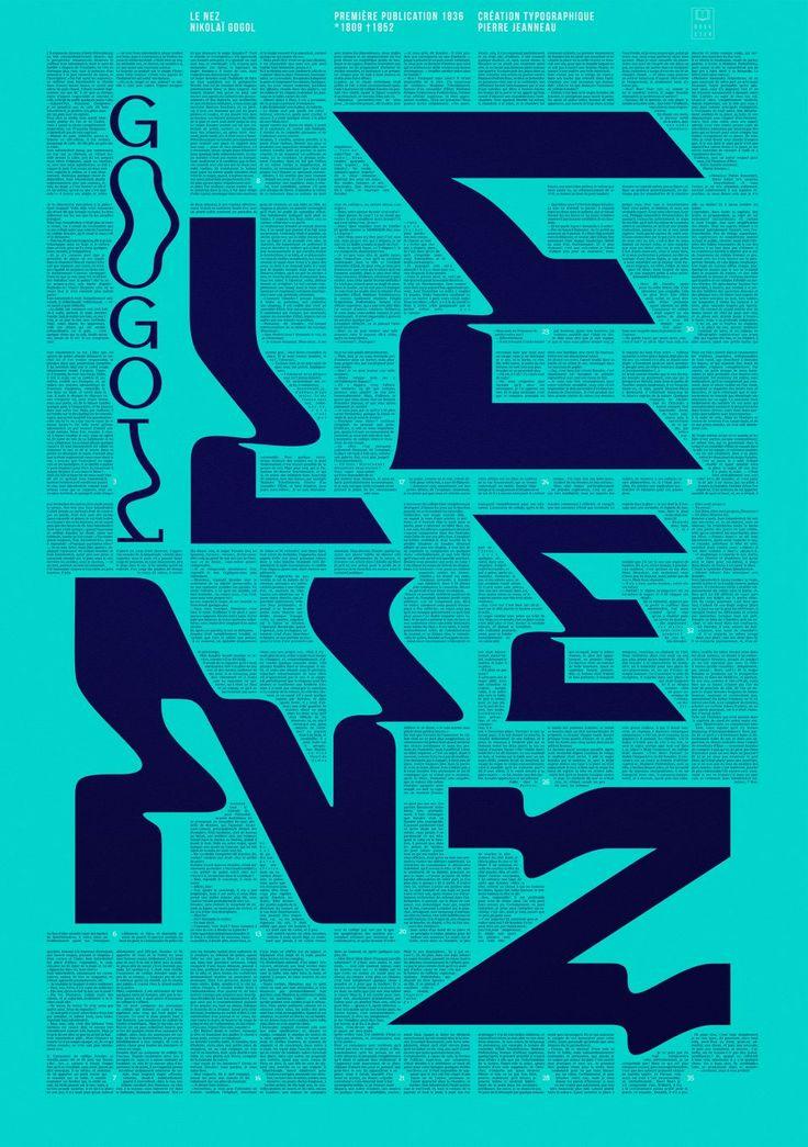 Bookster affiche poster Le Nez Nicolas Gogol édition original type design