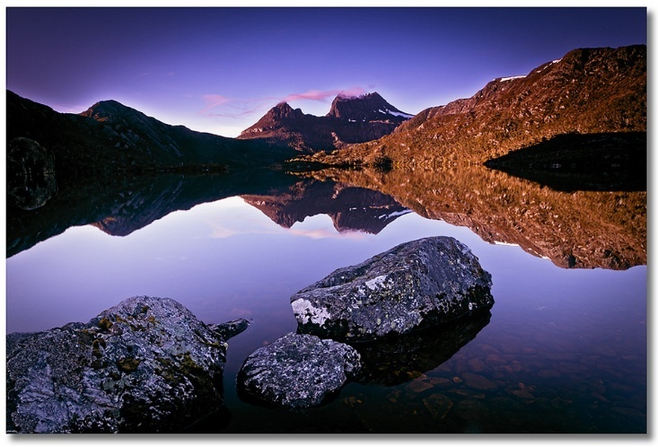 """""""Dawn at the Dove Lake, Cradle Mountain, Tasmania"""" a winning entry in our Trip to Remember competition"""