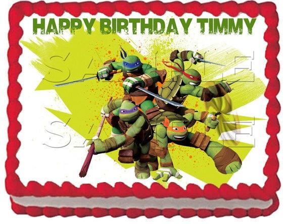 2 New Teenage Mutant Ninja Turtles Edible Cake Topper 8 99 Via Etsy Teenage Mutant Ninja Turtle Birthday Ninja Turtle Party Tmnt Birthday