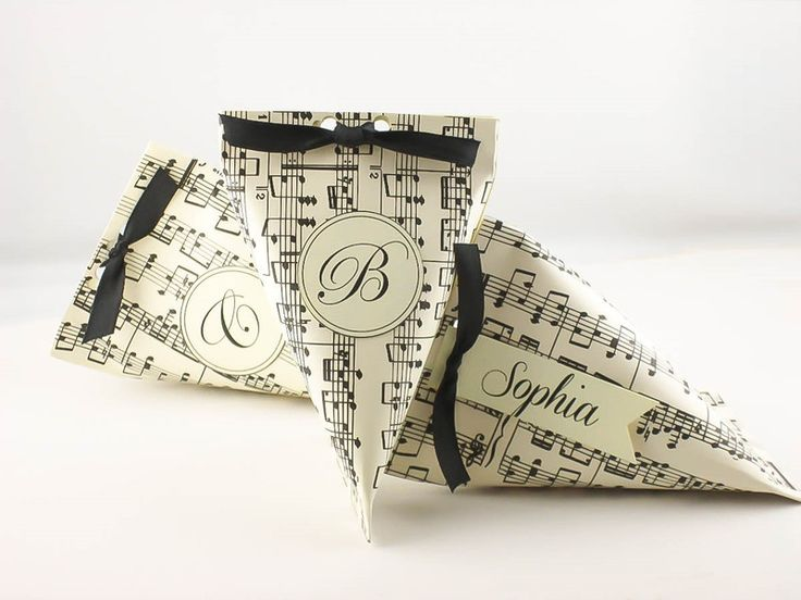 Christmas Bags – Small Gift Boxes Jewelry Packaging Music Themed – a unique product by DressYourGift on DaWanda
