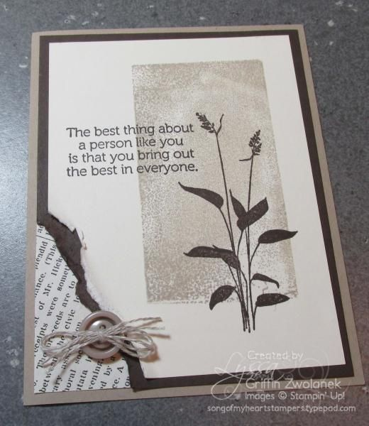Clear Block Stamped World of Dreams Card