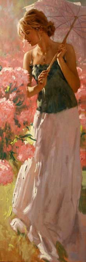 Pause; painting by Richard S. Johnson