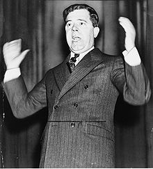 """""""Huey Pierce Long, Jr. (August 30, 1893 –  September 10, 1935), nicknamed The Kingfish, served as the 40th Governor of Louisiana from 1928–1932 and as a U.S. Senator from 1932 to 1935. A Democrat, he was noted for his radical populist policies. Though a backer of Franklin D. Roosevelt in the 1932 presidential election, Long split with Roosevelt in June 1933 and planned to mount his own presidential bid for 1936."""""""