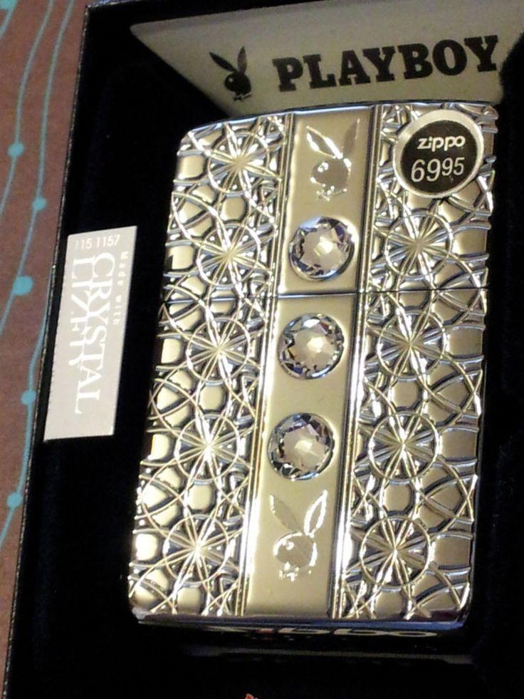 ZIPPO 28964 Armor Playboy Swarovski Crystals High Polish Chrome NEW Lighter